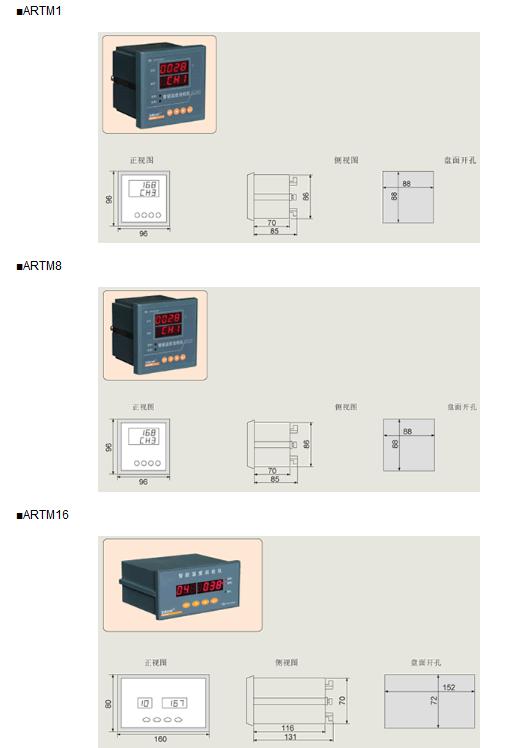 名称:artm系列温度巡检测控仪
